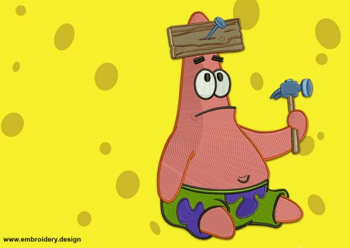 The embroidery design Upset Patrick Star provides in 8 embroidery formats