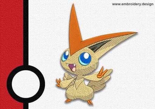 The embroidery design Victini pokemon