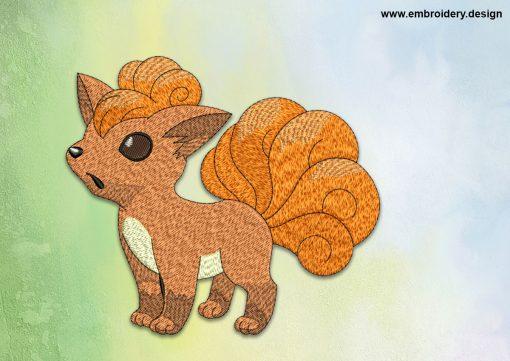 The embroidery design Vulpix Pokemon