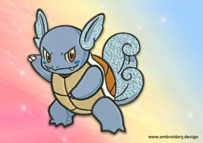 The embroidery design Wartortle pokemon