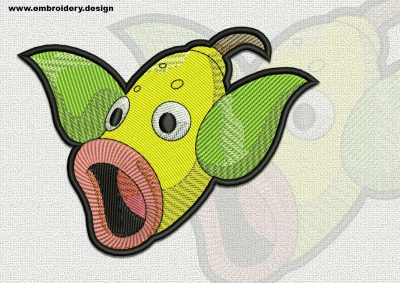 The qualitatively digitized embroidery design Weepinbell Pokemon