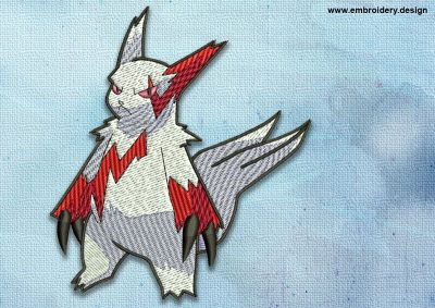 The embroidery design Zangoose Pokemon