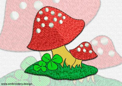 This Amanitas design was digitized and embroidered by www.embroidery.design.