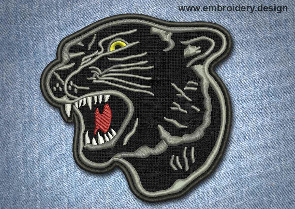 Animal patch black panther