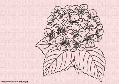 The embroidery design monochromatic Art bouquet looks feminine and unique.