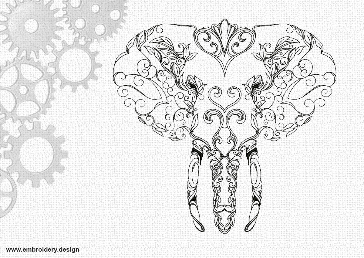 Art portrait of elephant