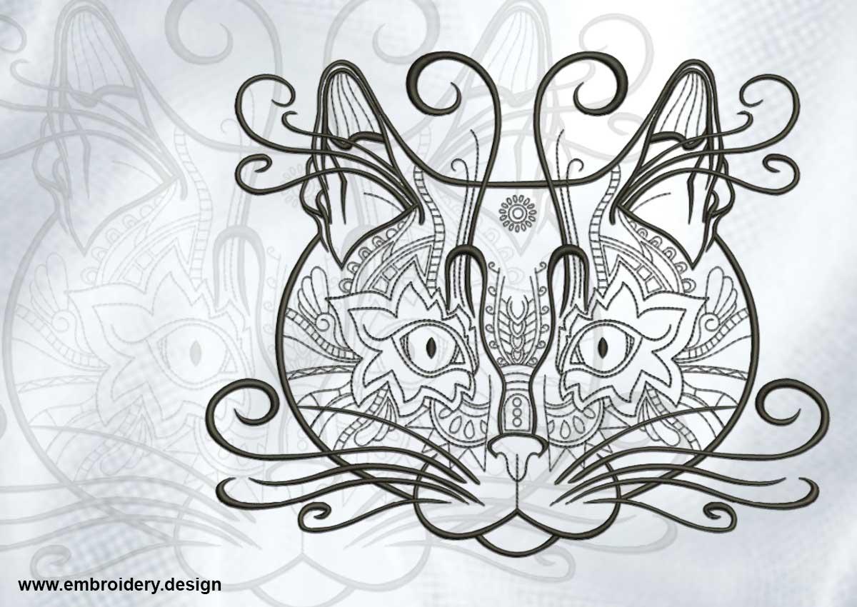 Artistic cats portrait