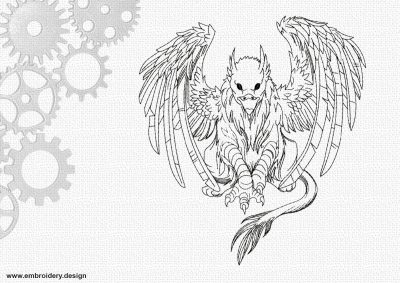 The embroidery design Artistic griffon