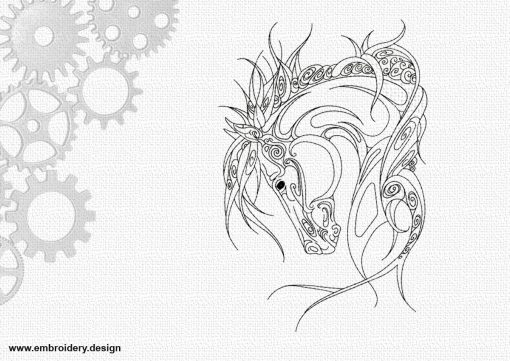 The embroidery design Artistic horse