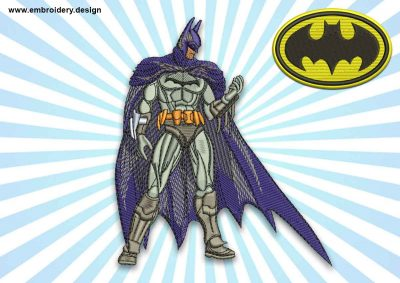 The embroidery design Batman & Bonus logo