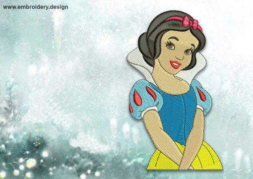 The embroidery design Beautiful Snowwhite