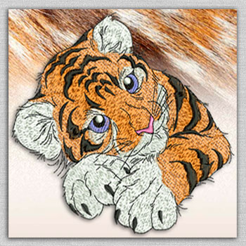 The category of embroidery designs with big cats
