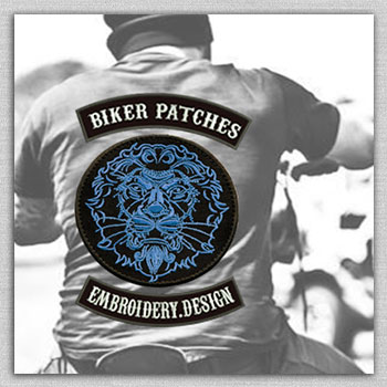The biker category of embroidery designs