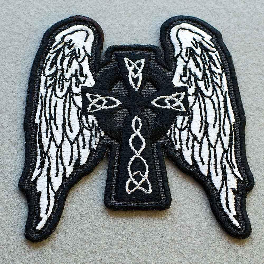 biker patch celtic cross