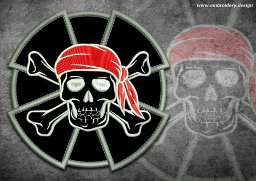 This Biker patch Pirate skull