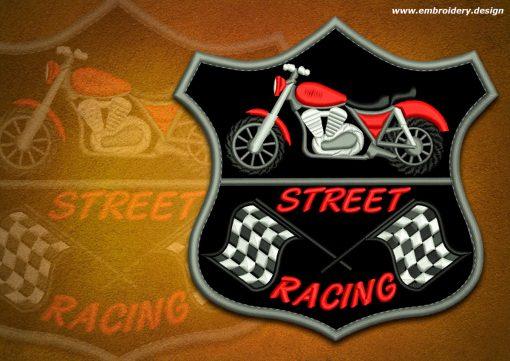 This Biker patch Racing motorbike