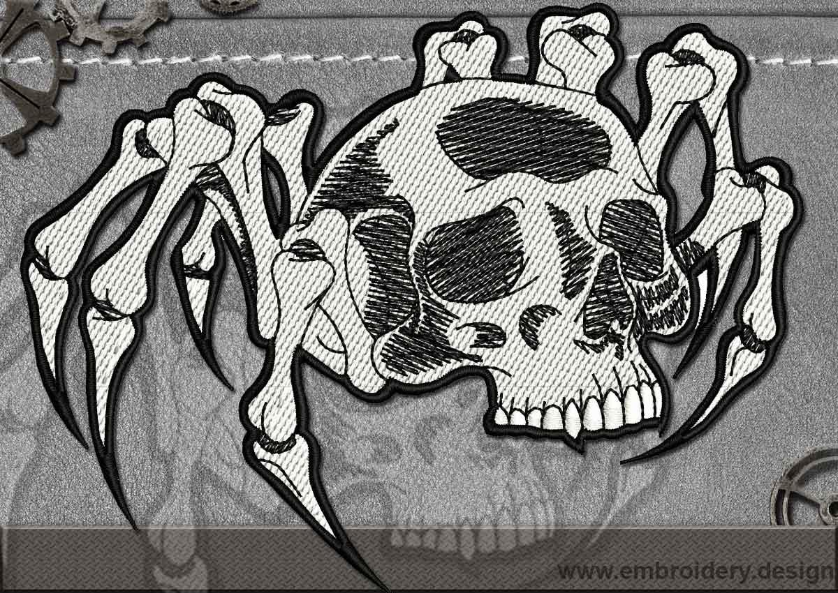 Biker Patch Spider Skull