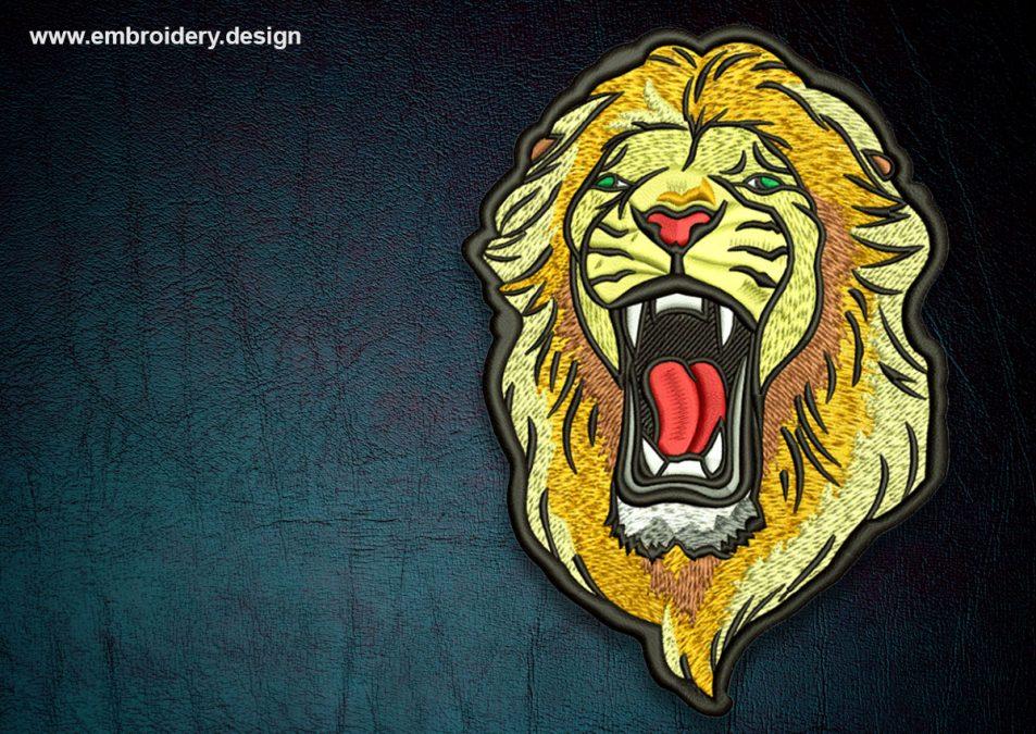 Biker patch Strong lion