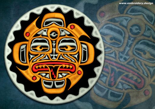This Biker patch Tiki totem