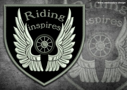 This Biker patch Winged wheel