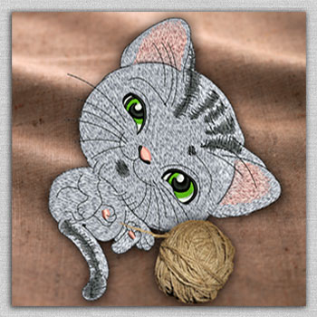 The collection of embroidery designs with cats and kittens