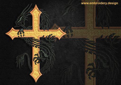 This Celtic Dragon  Cross