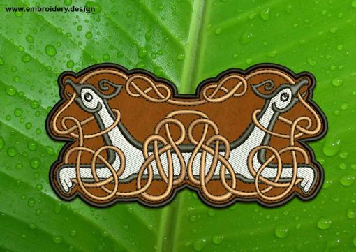 This Celtic Knot With Griffins patch transparent background