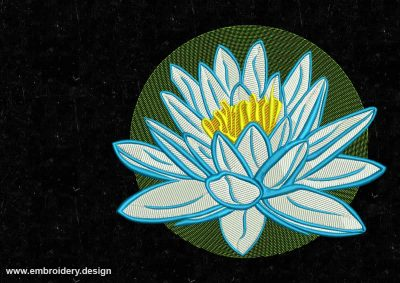 The embroidery design Charming lotus