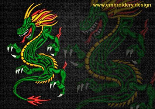 This Cheerful celtic dragon