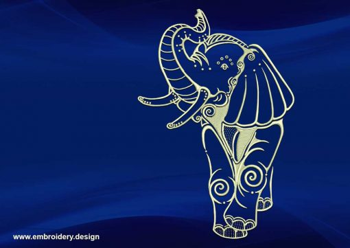 The embroidery design Cheerful elephant