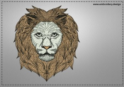 The embroidery design ?lever lion
