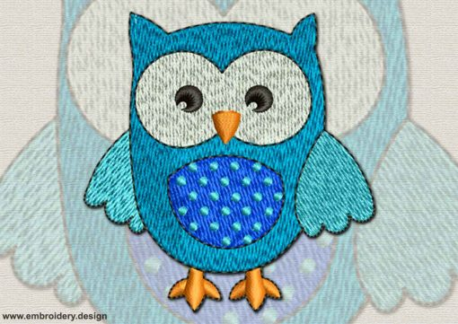 This Clever Owlet design was digitized and embroidered by www.embroidery.design.
