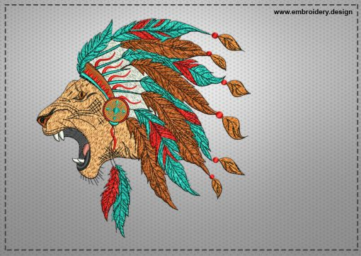 The embroidery design Conqueror lion