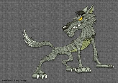 The qualitative embroidery design Cool wolf is provided with 8 embroidery formats by EmbroSoft team.