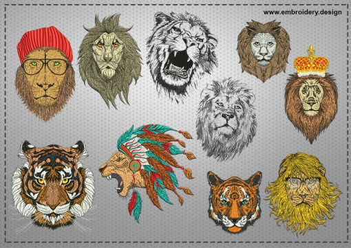 The embroidery design ?reative big cats