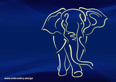 The embroidery design Cute tattoo elephant