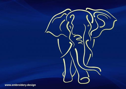 The embroidery design Cute tattoo elephant