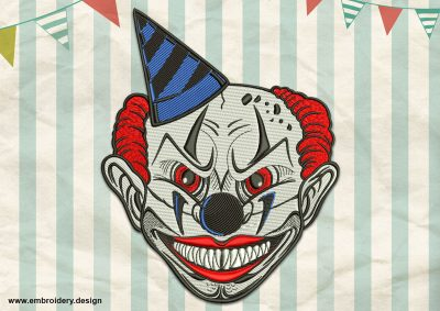 The  embroidery design Demonic Clown was professionally digitized by specialists of EmbroSoft company.