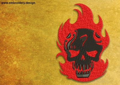 The embroidery design Diablo from the Suicide Squad