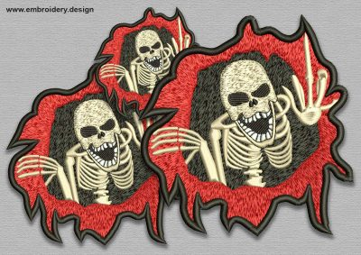 The embroidery design Diabolical skull