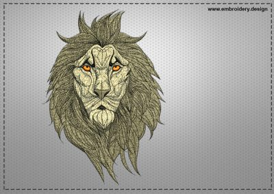 The embroidery design Disquieted lion