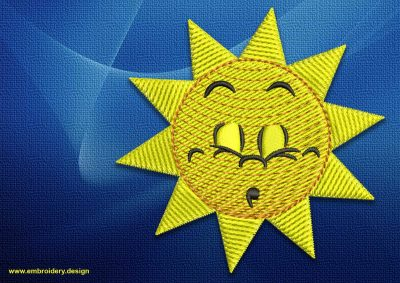 The embroidery design Dormant sun