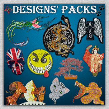 The collection of embroidery designs' packs