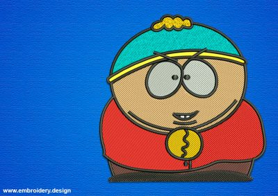 The embroidery design Eric Cartman is rather simple