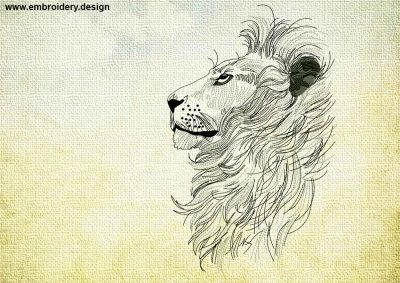 This Exalted Lion design was digitized and embroidered by www.embroidery.design.
