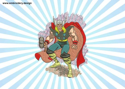 The embroidery design Famous Thor