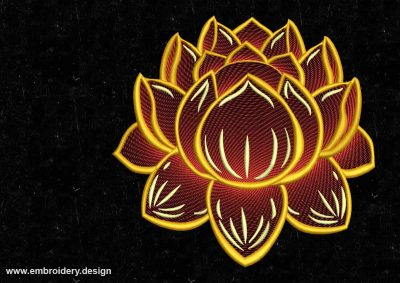 The embroidery design Fantastic lotus