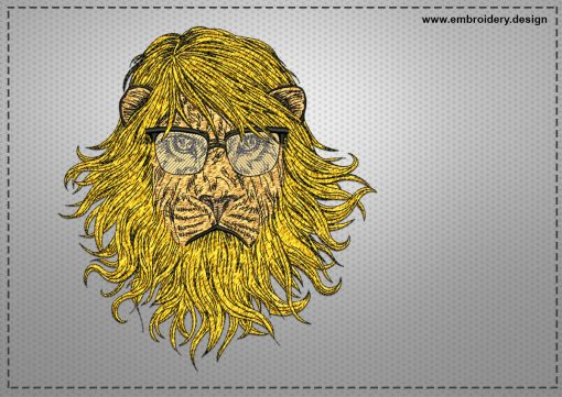 The embroidery design Fashionable lion