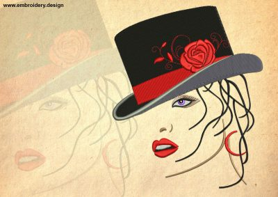 The embroidery design Femme fatale
