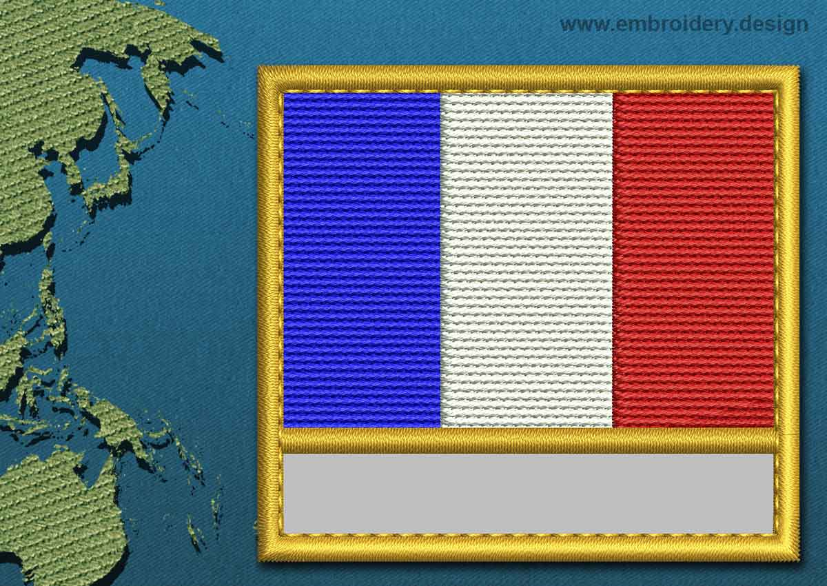 French Southern And Antarctic Lands Customizable Text Flag
